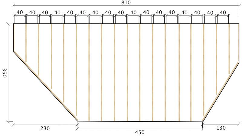 Unterkonstruktion einer Terrasse aus Robinie mittels 60x40mm UK vom Robinien Shop.