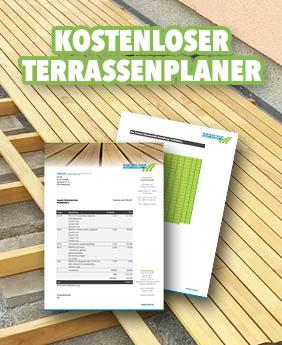 Kostenloser Terrassenplaner vom Robinien-Shop.