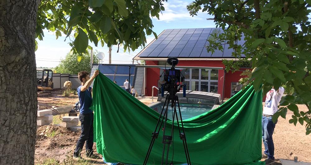 Dreharbeiten zu Imagefilm von Robinien-Shop.