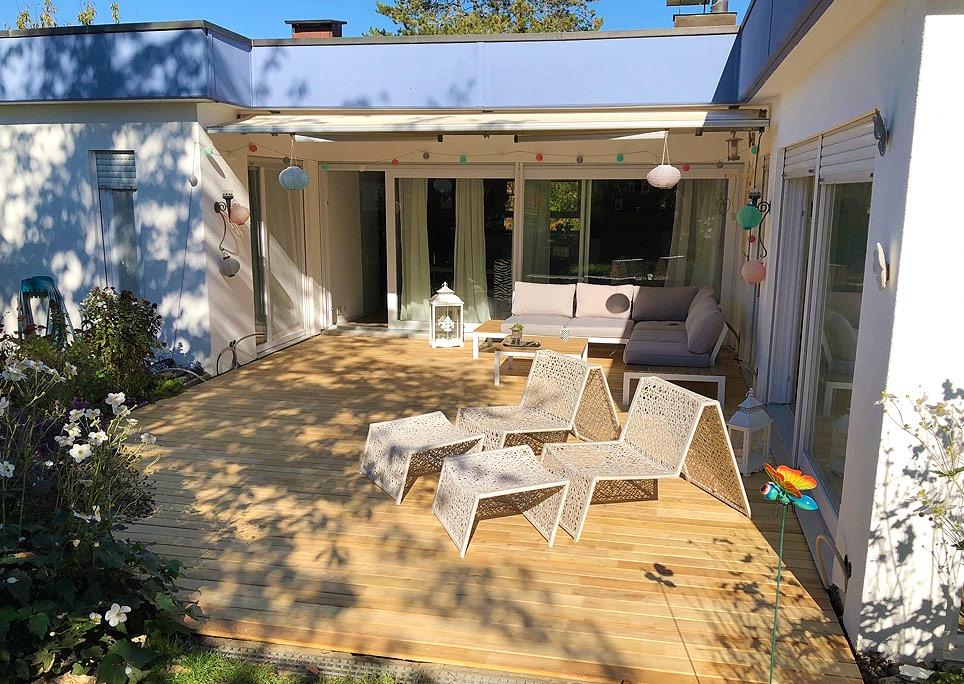 Terrasse aus Akazie / Robinie